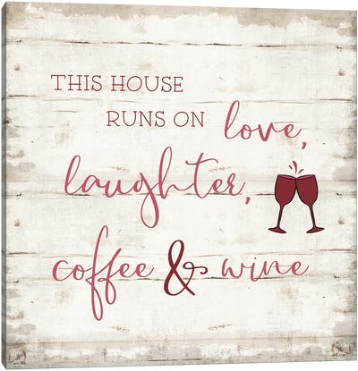 Laughter and Wine Canvas Art Print