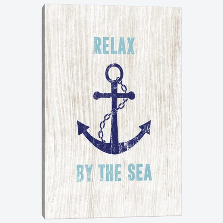 Relax By the Sea Canvas Print #CAD98} by CAD Designs Art Print
