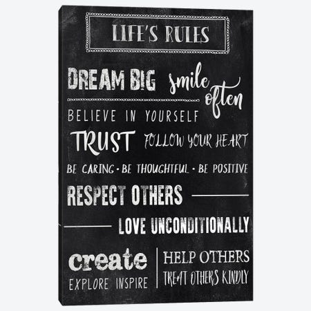 Chalkboard Rules II Canvas Print #CAD9} by CAD Designs Canvas Artwork