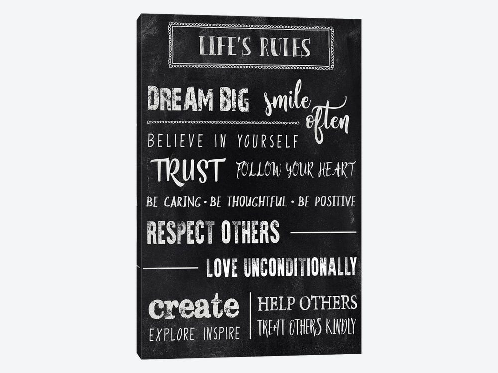 Chalkboard Rules II by CAD Designs 1-piece Canvas Art Print