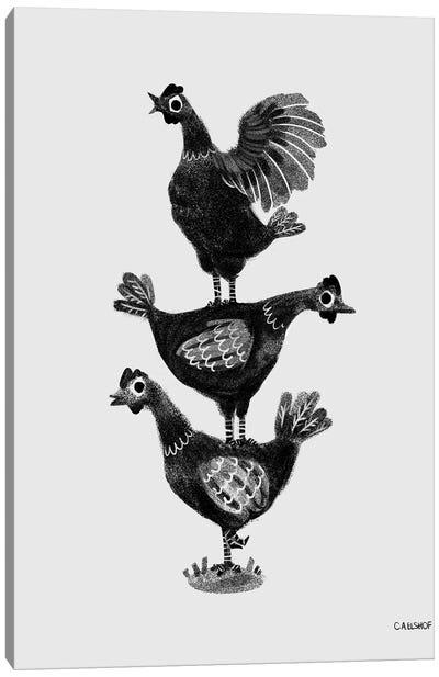 Chicken Stack Canvas Art Print