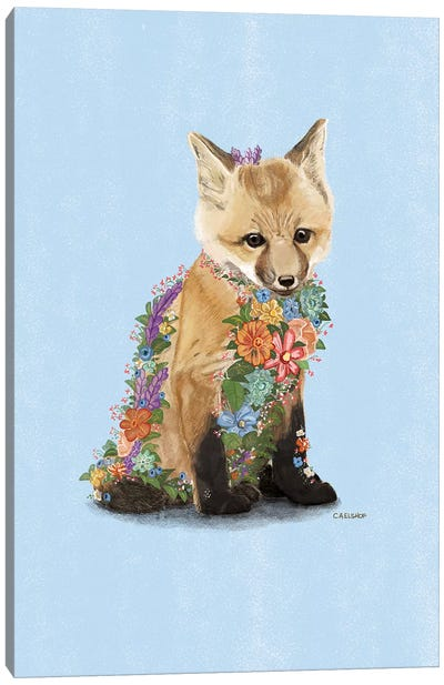 Flower Fox Canvas Art Print