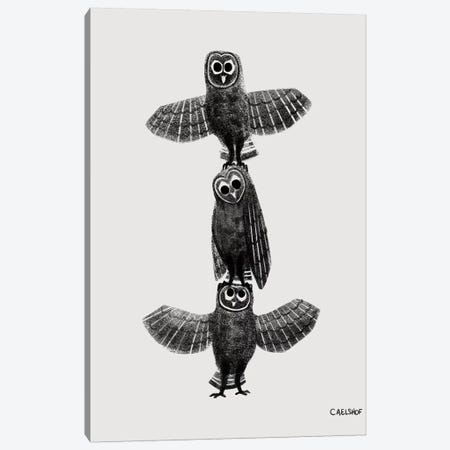 Owl Stack Canvas Print #CAE34} by Carolynn Elshof Canvas Print