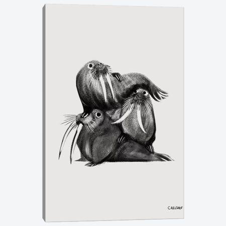 Walrus Stack Canvas Print #CAE50} by Carolynn Elshof Canvas Art