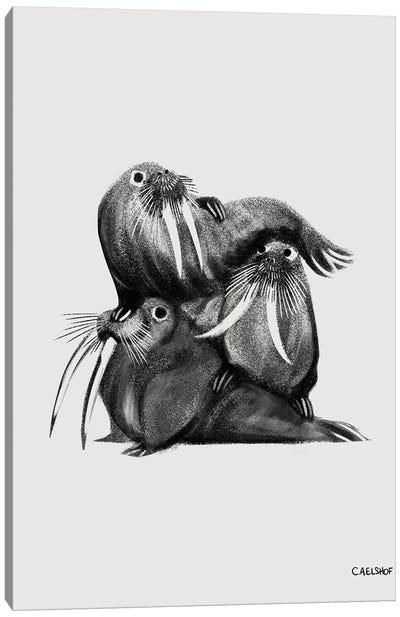 Walrus Stack Canvas Art Print