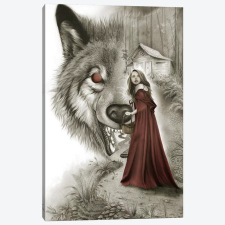Red Riding Hood Canvas Print #CAF14} by Carlos Fernandez Canvas Art