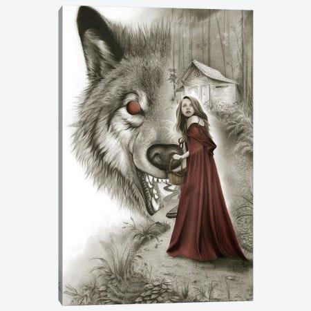 Red Riding Hood Canvas Print #CAF14} by Carlos Fernandez Canvas Art