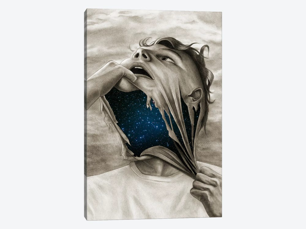 Spaceface by Carlos Fernandez 1-piece Canvas Print