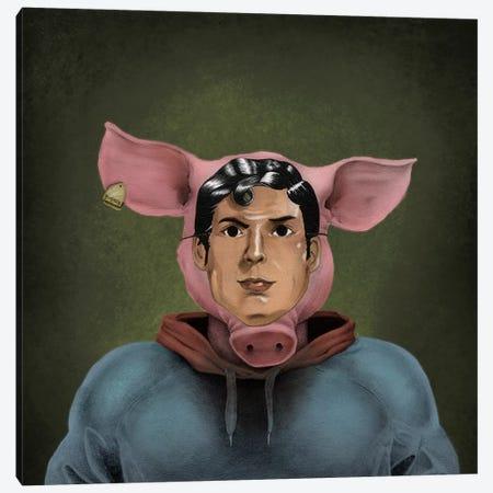 Superhumanized Pig Canvas Print #CAF19} by Carlos Fernandez Canvas Art Print