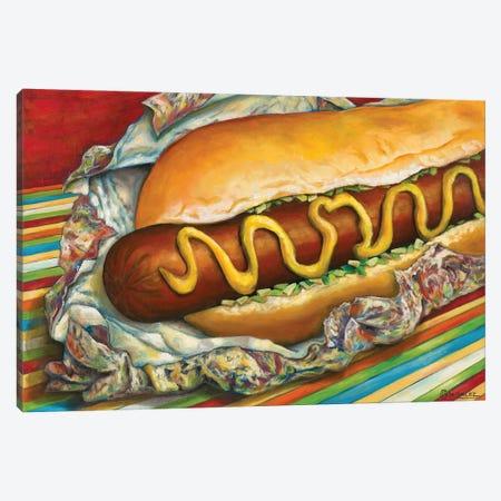 Carnival Hot Dog Canvas Print #CAG11} by Carmen Gonzalez Canvas Art