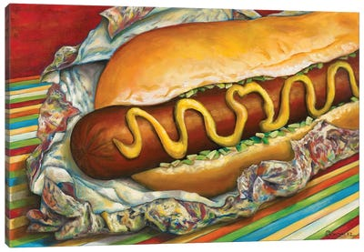 Carnival Hot Dog Canvas Art Print