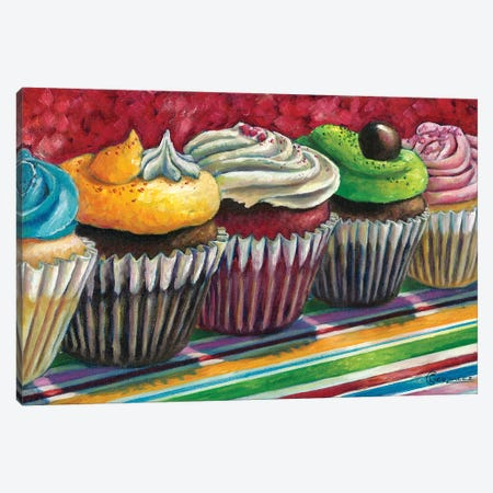 Cupcake Lane Canvas Print #CAG14} by Carmen Gonzalez Canvas Print