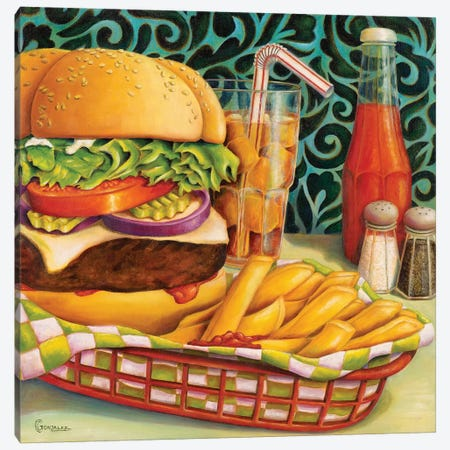 Diner Dinner Canvas Print #CAG17} by Carmen Gonzalez Art Print
