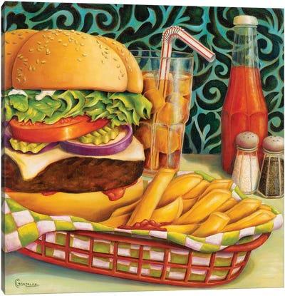 Diner Dinner Canvas Art Print