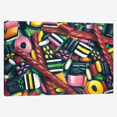 Licorice Lovers 3-Piece Canvas #CAG26} by Carmen Gonzalez Canvas Wall Art