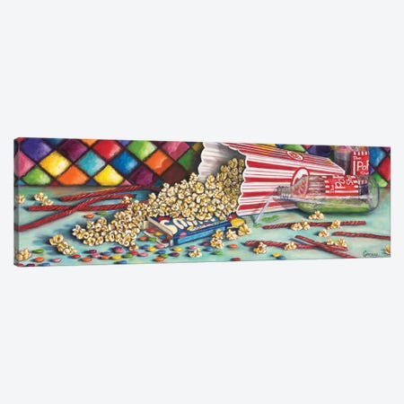Movie Night-Popcorn, Pop, & Candy 3-Piece Canvas #CAG28} by Carmen Gonzalez Art Print