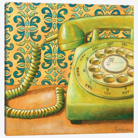 Rotary Dialing Canvas Print #CAG39} by Carmen Gonzalez Canvas Artwork