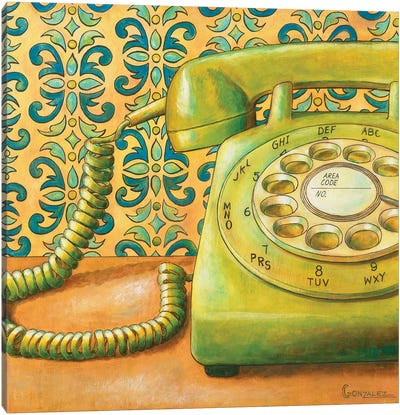 Rotary Dialing Canvas Art Print