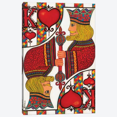 The King Of Hearts Canvas Print #CAG42} by Carmen Gonzalez Canvas Print
