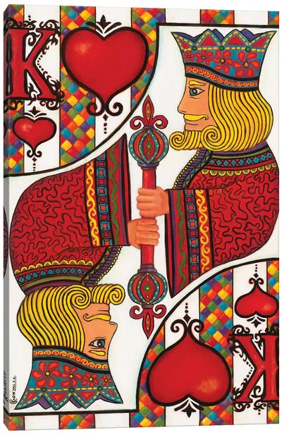 The King Of Hearts Canvas Art Print