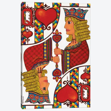 The Queen Of Hearts Canvas Print #CAG43} by Carmen Gonzalez Canvas Print