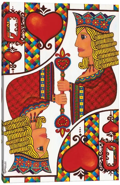 The Queen Of Hearts Canvas Art Print