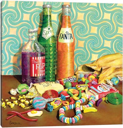 Sugar Junkie Canvas Art Print