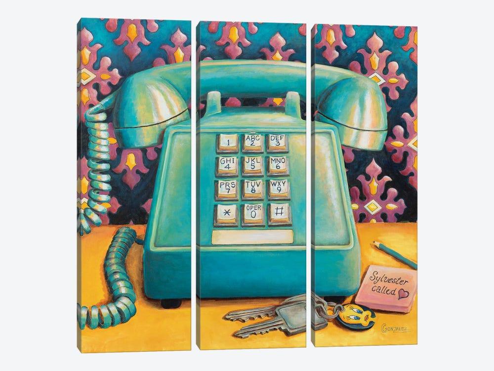 Sylvester Called by Carmen Gonzalez 3-piece Canvas Art Print