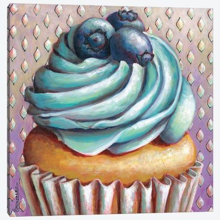 Blueberry Swirl Canvas Print #CAG66} by Carmen Gonzalez Canvas Art
