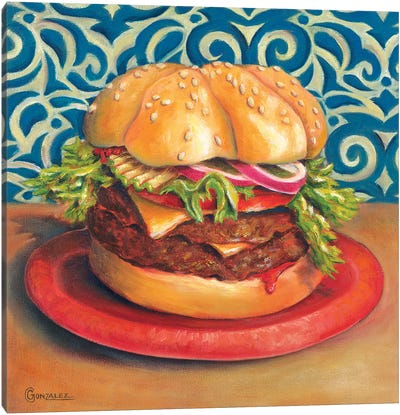 Beautiful Burger Canvas Art Print