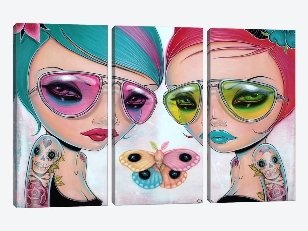 Genus Rainbowis by Caia Koopman 3-piece Canvas Print