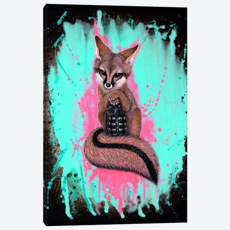 Gray Fox Army Canvas Print #CAI17} by Caia Koopman Canvas Art Print