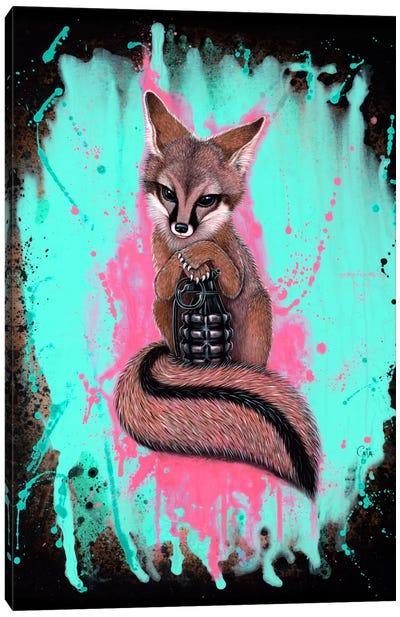 Gray Fox Army Canvas Art Print