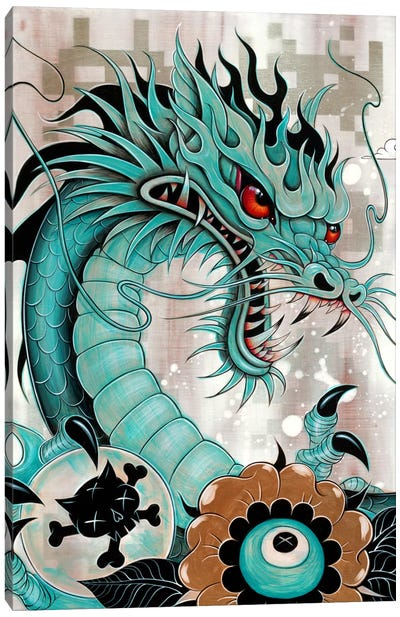 Detail Of Dragon's Head, Liberty & Blaze Canvas Art Print