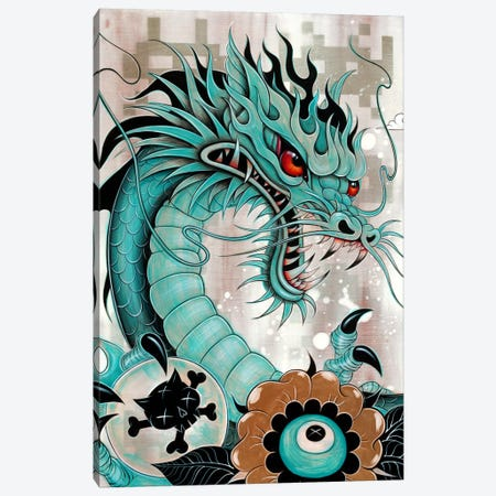 Detail Of Dragon's Head, Liberty & Blaze Canvas Print #CAI25} by Caia Koopman Canvas Wall Art