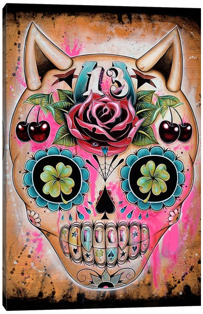 Lucky 13 Canvas Art Print