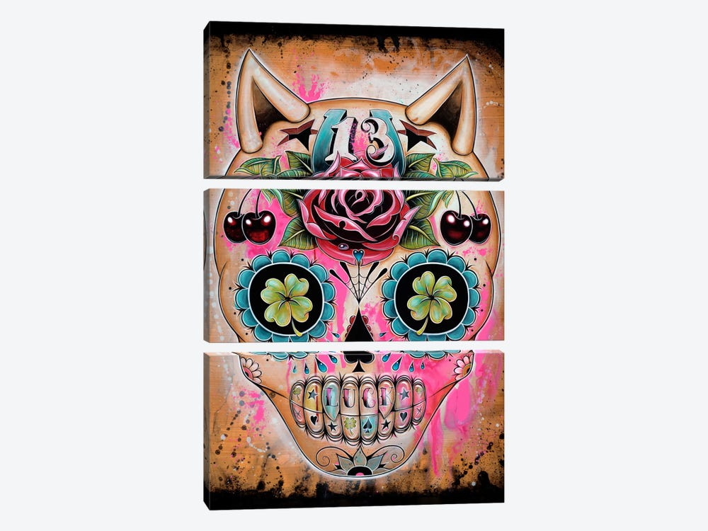 Lucky 13 by Caia Koopman 3-piece Canvas Print