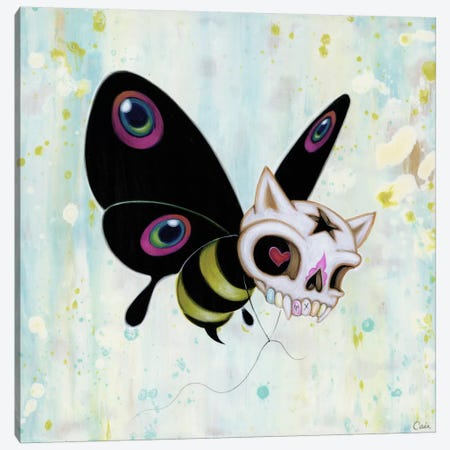 Bad Bee Canvas Print #CAI2} by Caia Koopman Art Print