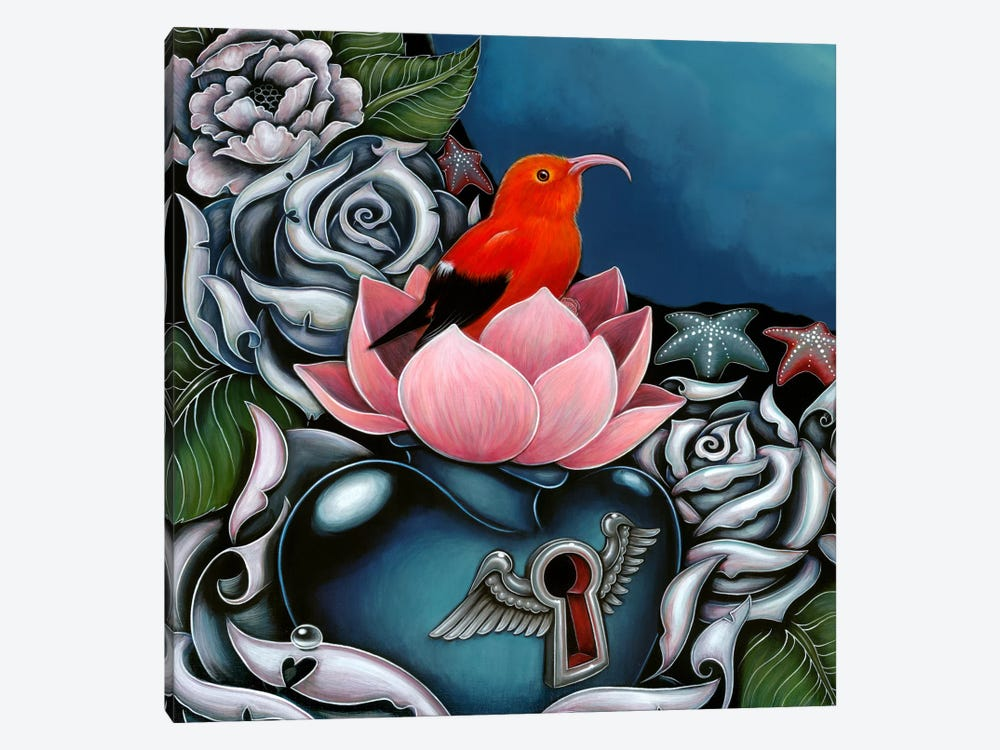 Detail Of Hawaiian Honeycreeper, Monk by Caia Koopman 1-piece Canvas Artwork