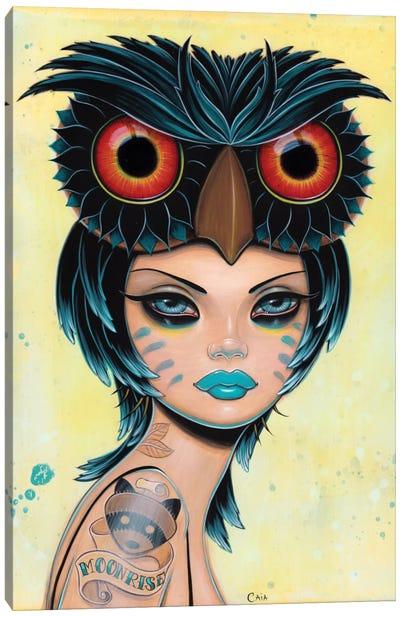 Moonrise Owl Canvas Art Print