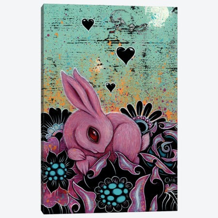Pink Bunny Canvas Print #CAI34} by Caia Koopman Canvas Print