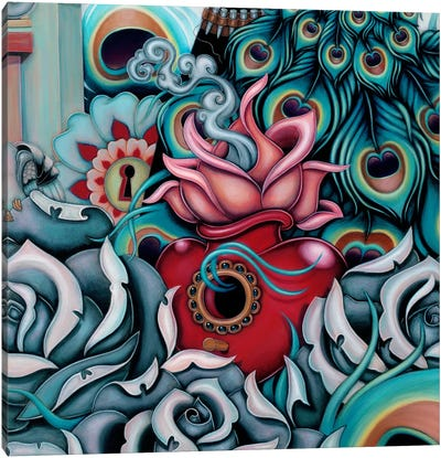 Detail Of Flowering Heart, Pride Canvas Print #CAI38