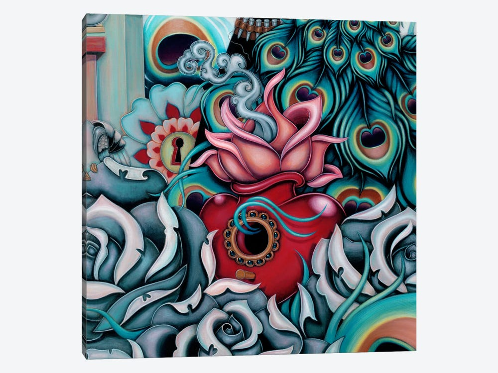 Detail Of Flowering Heart, Pride by Caia Koopman 1-piece Canvas Artwork