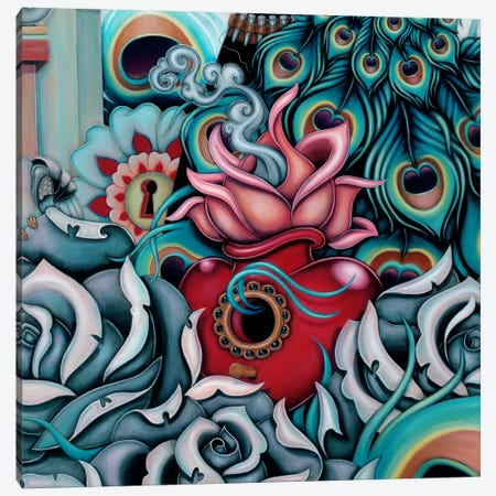 Detail Of Flowering Heart, Pride 3-Piece Canvas #CAI38} by Caia Koopman Canvas Art