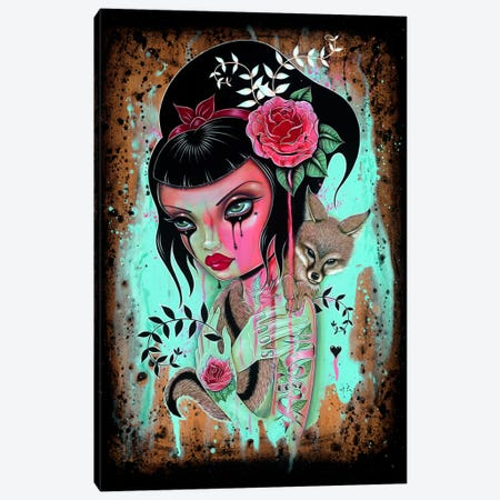 Raining Pink Canvas Print #CAI39} by Caia Koopman Canvas Artwork