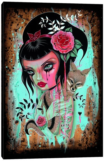 Raining Pink Canvas Print #CAI39
