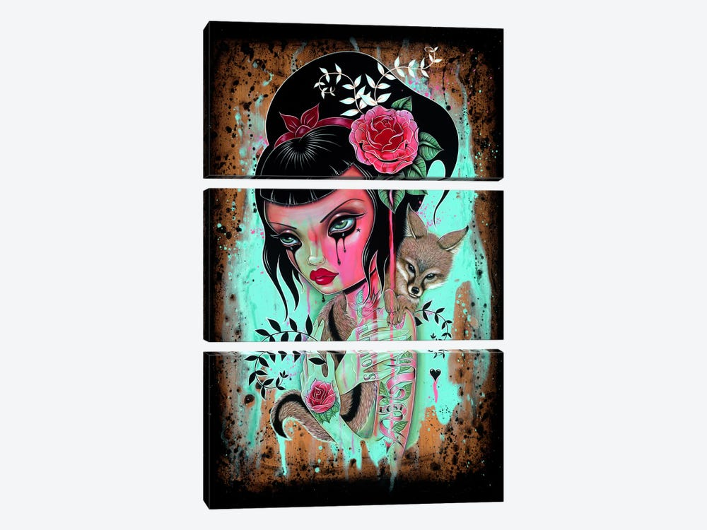 Raining Pink by Caia Koopman 3-piece Canvas Art Print