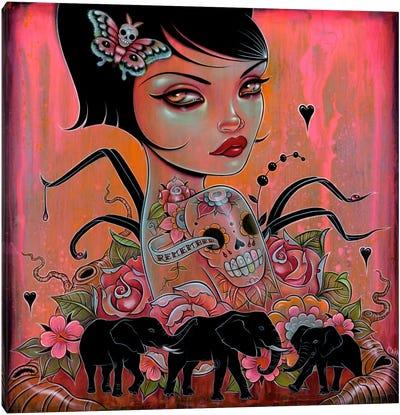 Remember The Elephants Canvas Art Print