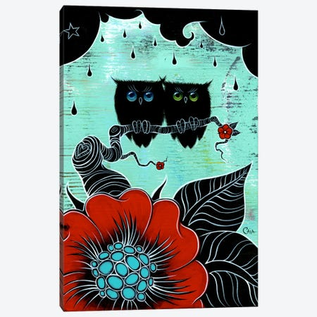 Two Hoots Canvas Print #CAI47} by Caia Koopman Canvas Artwork
