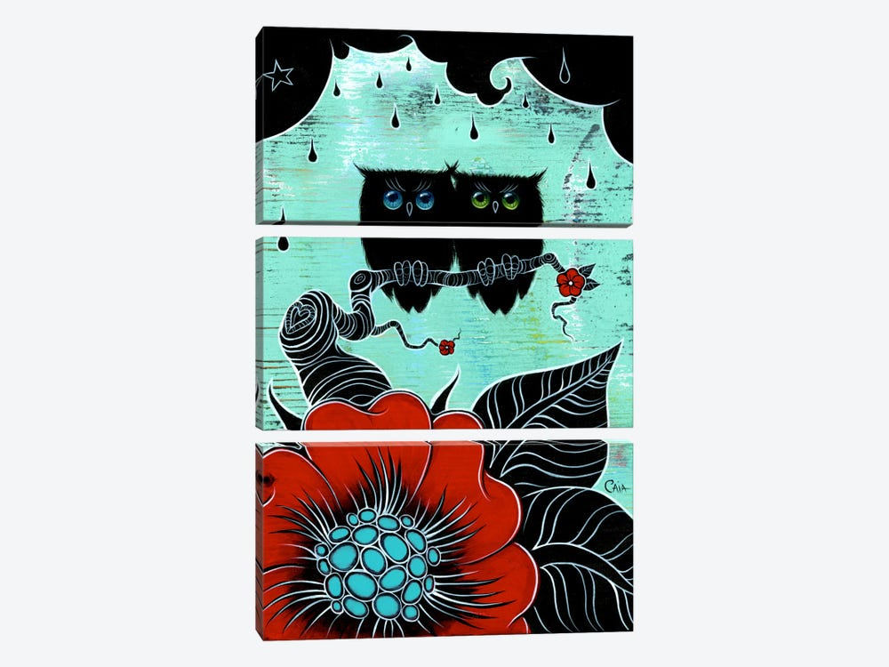 Two Hoots by Caia Koopman 3-piece Canvas Wall Art